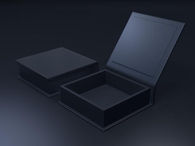 Boîte en carton vierge noire