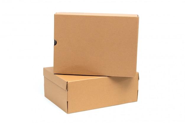 Boîte à chaussures en carton brun avec couvercle pour l'emballage de chaussures ou de baskets
