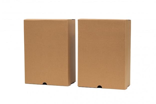 Boîte à chaussures en carton brun avec couvercle pour produit de chaussure ou de baskets