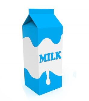 Boite à lait bleue et blanche