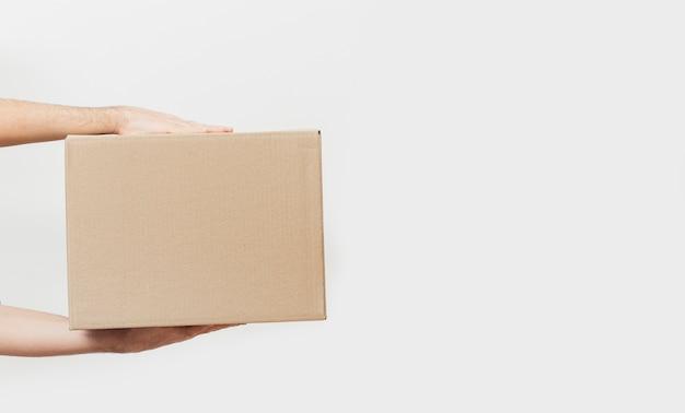 Boîte de livraison avec copie-espace