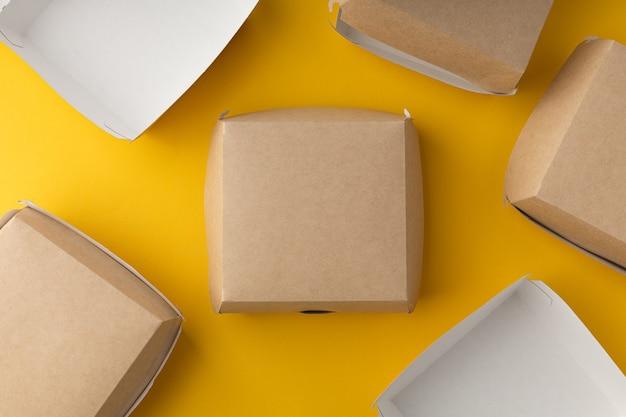 Boîte de livraison de hamburgers sans plastique