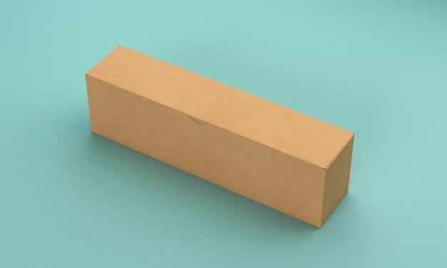 Boîte longue minimaliste haute vue