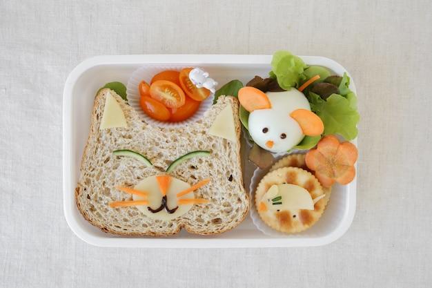 Boîte à lunch chat et souris
