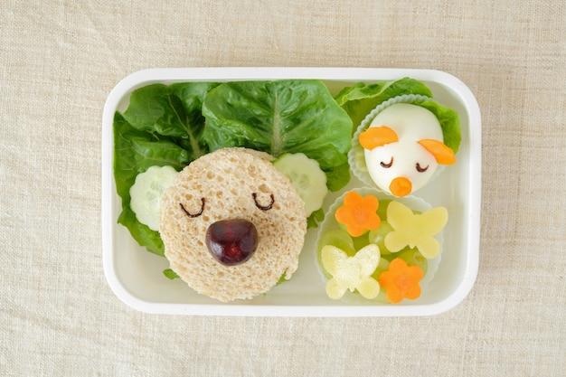 Boîte à lunch ours koala, art alimentaire amusant pour les enfants