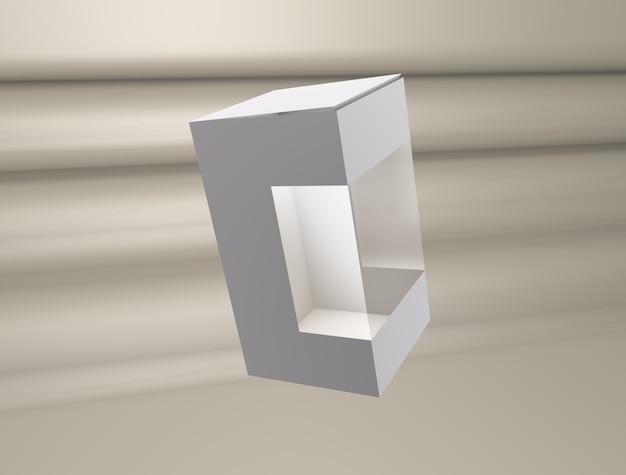 Boîte de maquette 3d