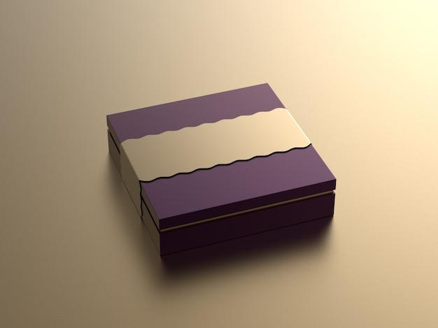 Boîte maquette isolée