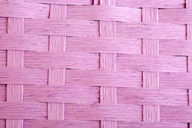 Boîte en osier texturé rose
