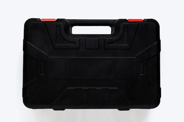 Boîte à outils isolé sur fond blanc