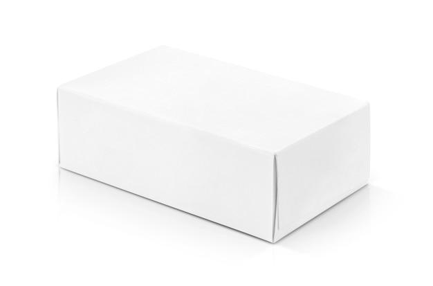 Boîte en papier blanc pour la conception de produits.