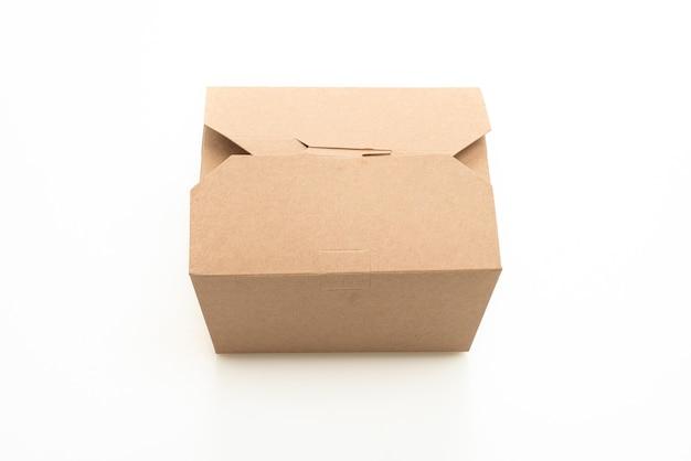 Boîte de papier isolée