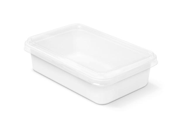 Boîte en plastique d'emballage vide pour la nourriture isolée
