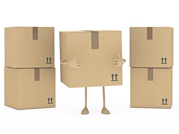 Boîte positive avec d'autres boîtes