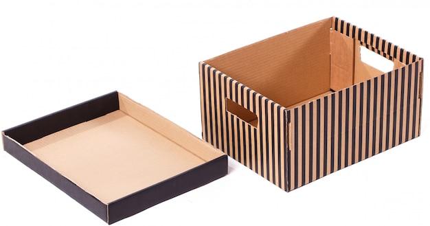 Boîte rayée isolée