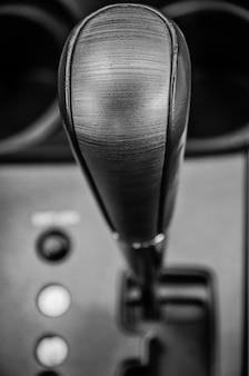 Boîte de vitesses manuelle de levier de vitesses close up