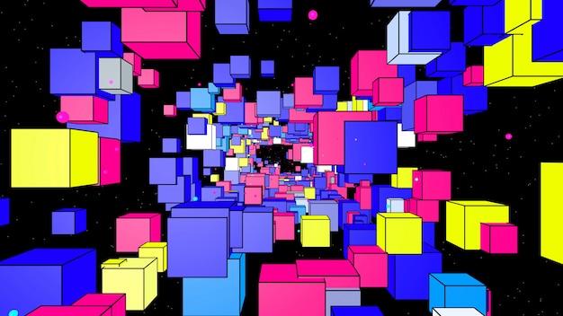 Boîtes abstraites colorées en arrière-plan