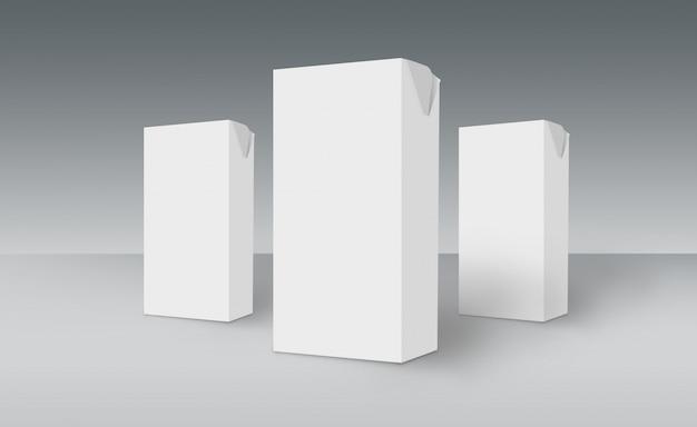 Boîtes blanches 3d sur ground concept series 511