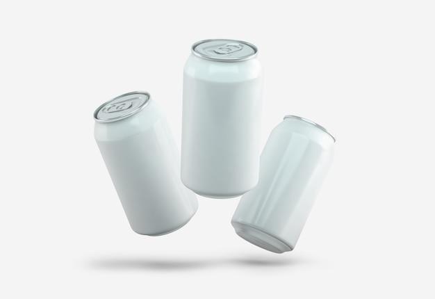 Boîtes blanches isolées sur blanc