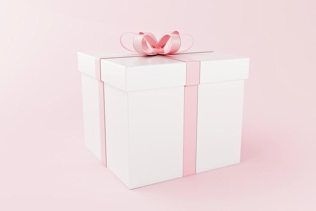 Boîtes-cadeaux 3d, concept de saint-valentin.