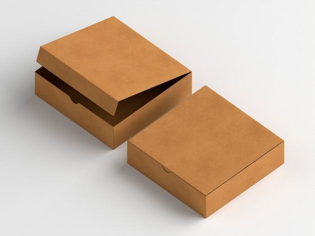 Boîtes en carton ouvertes et fermées