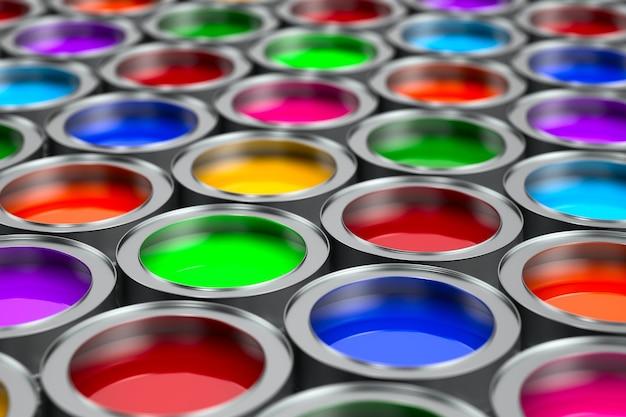 Boîtes de couleur. illustration 3d