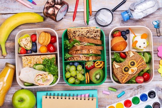Boîtes à lunch scolaires saines
