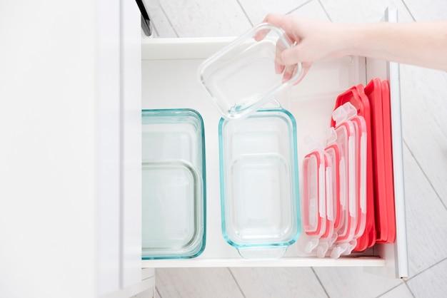 Boîtes à lunch en verre