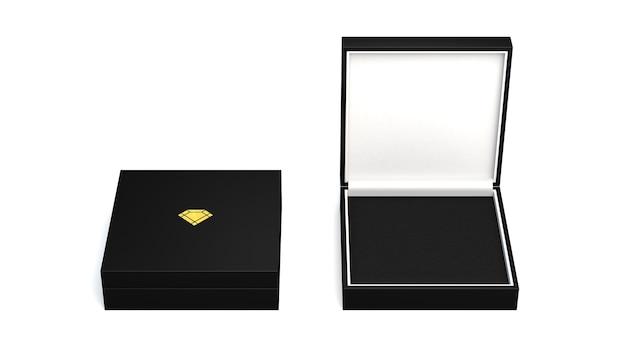 Boîtes vierges de rendu 3d isolés sur blanc