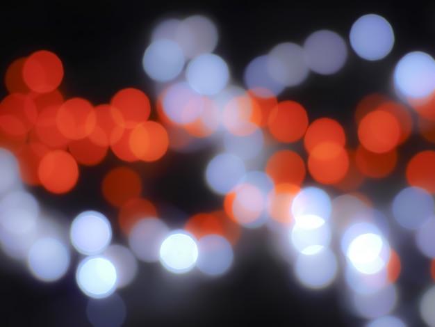 Bokeh abstrait avec la couleur de la lumière rouge et bleue