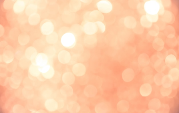 Bokeh abstrait fond doré rose