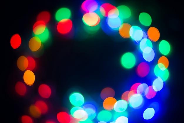 Bokeh - arrière-plan flou abstrait - fuites de lumière