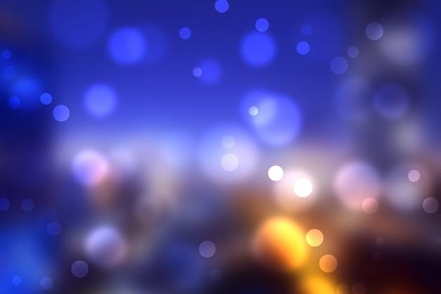 Bokeh coloré flou des lumières urbaines
