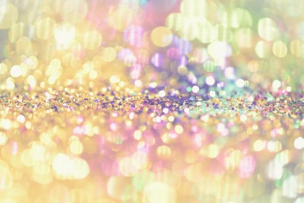 Bokeh colorfull abstrait flou pour anniversaire, anniversaire, réveillon ou chr