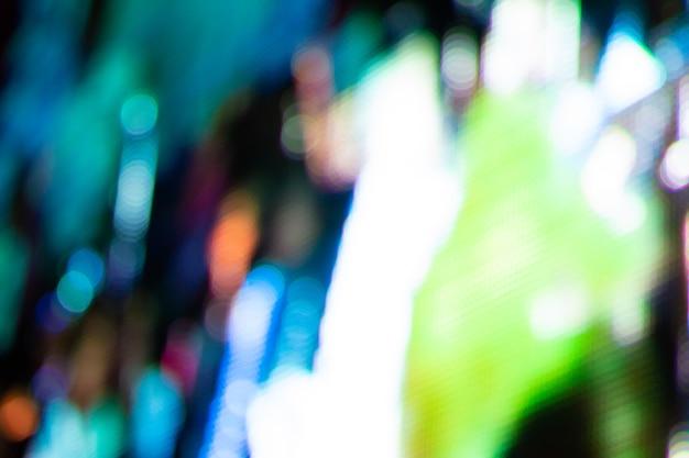 Bokeh d'écran led abstrait, fond de technologie