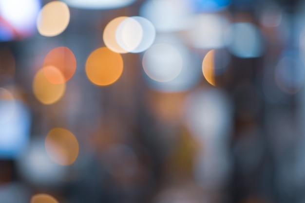 Bokeh floue abstrait avec multi couleurs, fond de bokeh lumières festive