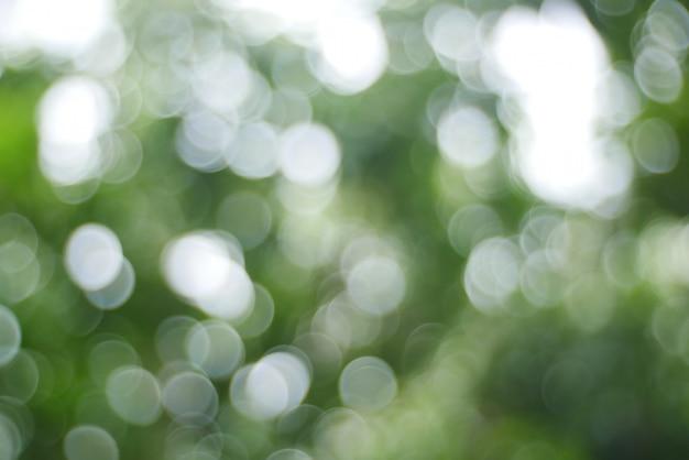Bokeh fond, arbre de noël lumière bokeh en couleur vert jaune doré