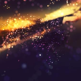 Bokeh glitter background avec effet lumière dorée