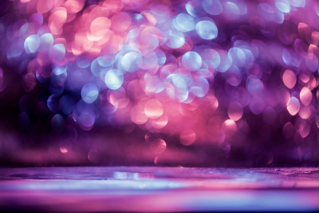 Bokeh glitter colorfull abstrait flou pour anniversaire, nouvel an ou noël