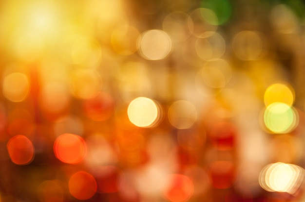 Bokeh jaune et rouge