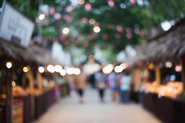Bokeh léger du souvenir du prapathon lonklao king rama v festival