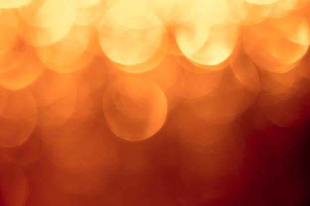 Bokeh de lumière orange abstraite.