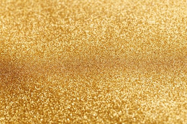 Bokeh lumière de paillettes d'or