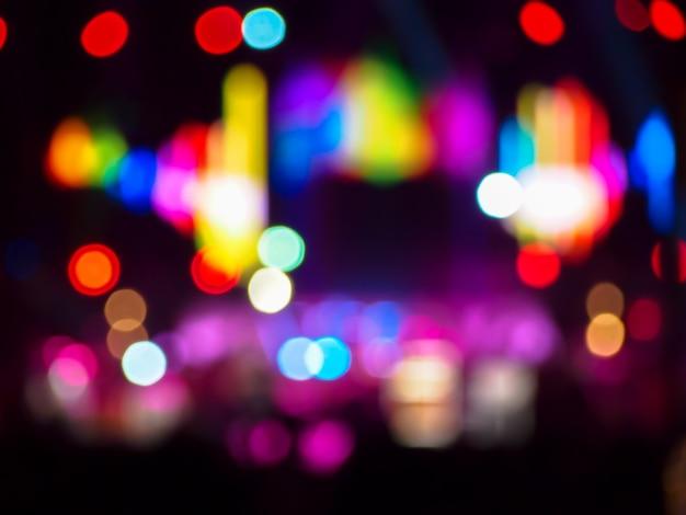 Bokeh lumières colorées défocalisé