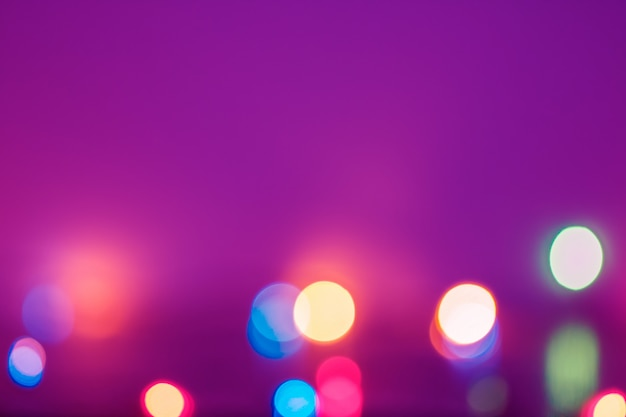 Bokeh de lumières magnifique et coloré pour le fond