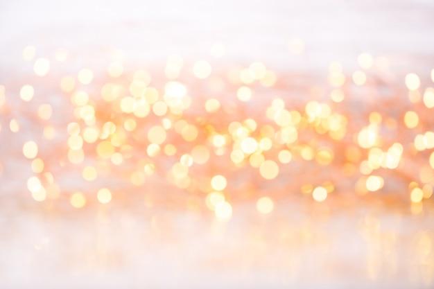 Bokeh or abstrait. surface de thème de noël et du nouvel an.
