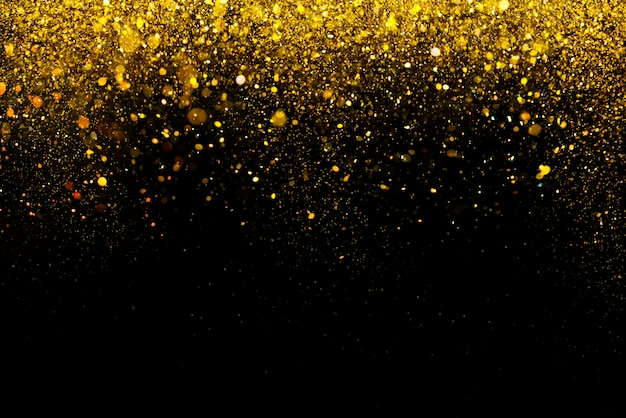 Bokeh de paillettes d'or colorfull abstrait abstrait