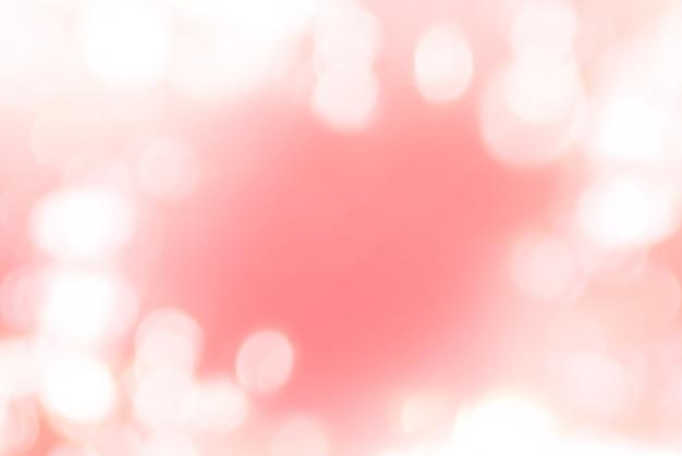 Bokeh photo naturel isolé sur couleur rouge doux