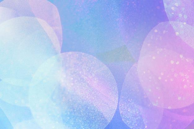 Bokeh de texture holographique bleue