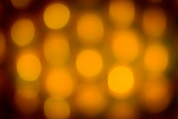 Bokeh de vacances jaune. abstrait