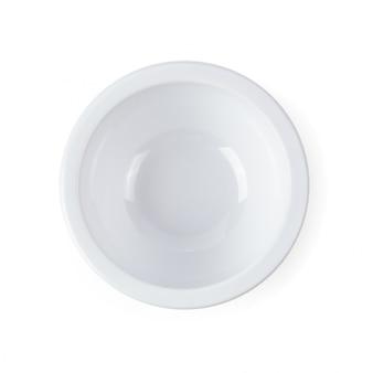 Bol en céramique blanche isolé sur fond blanc